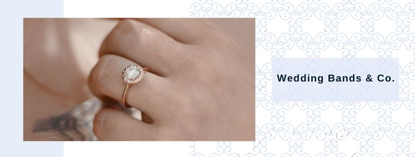 halo engagement rings at Wedding Bands & Co.